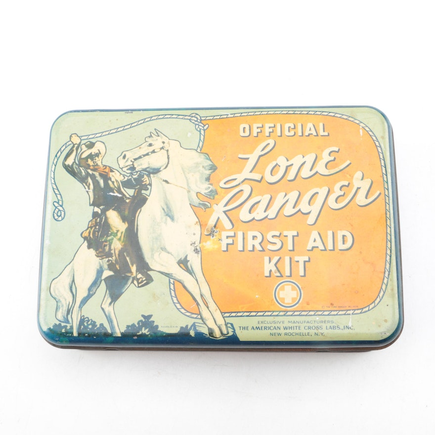 The American White Cross Labs Official Lone Ranger First Aid Kit Ebth