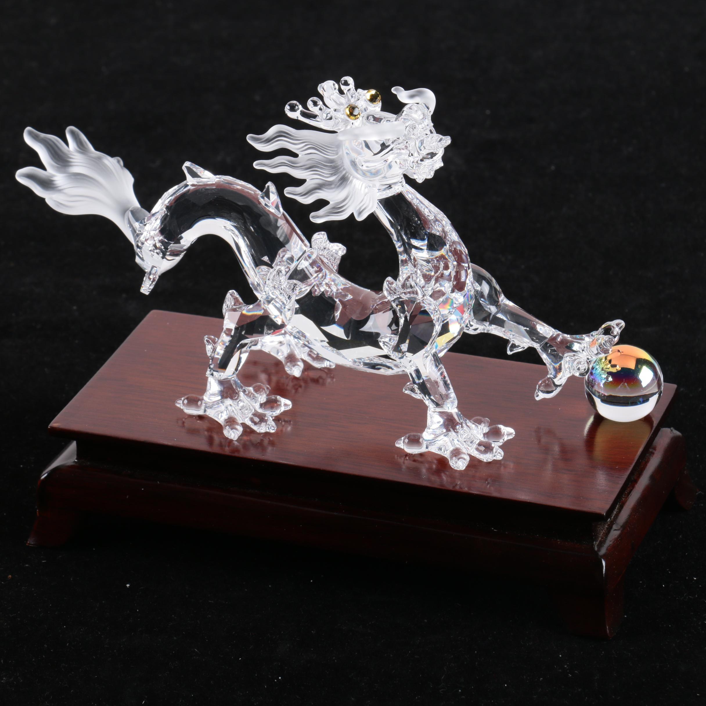 "Swarovski ""Zodiac"" Crystal Dragon Figurine on Base"