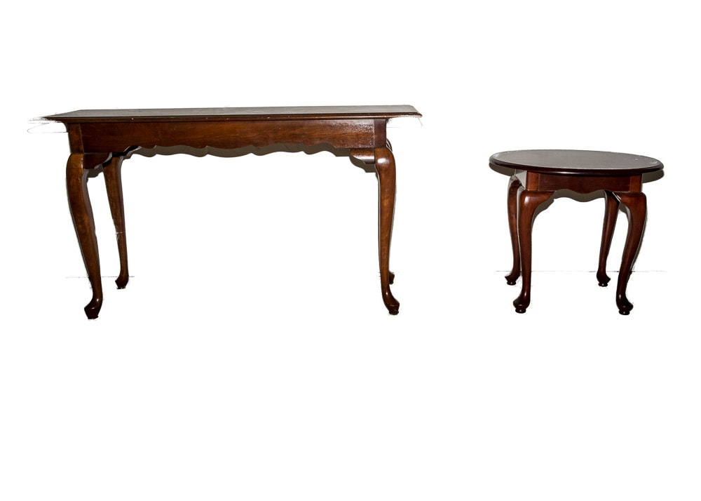 Pair of Queen Anne Style Cherry Tables