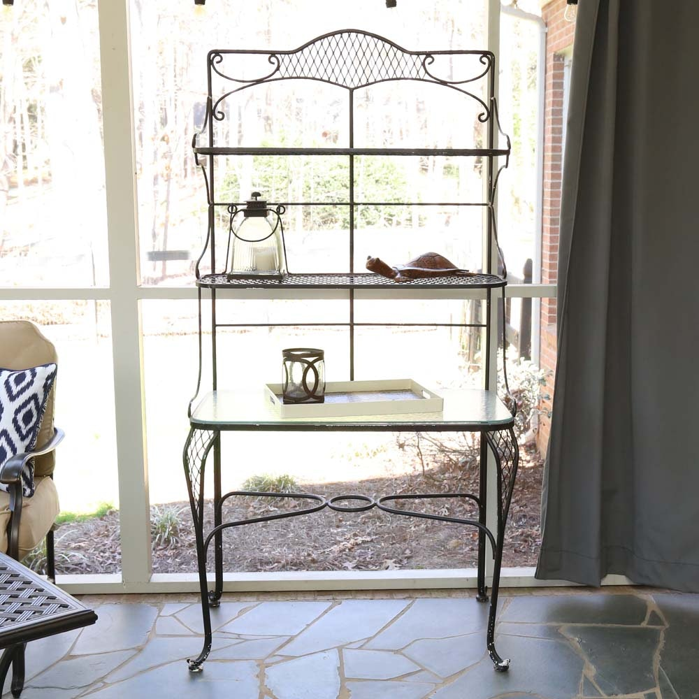 Iron Patio Baker's Rack and Accessories