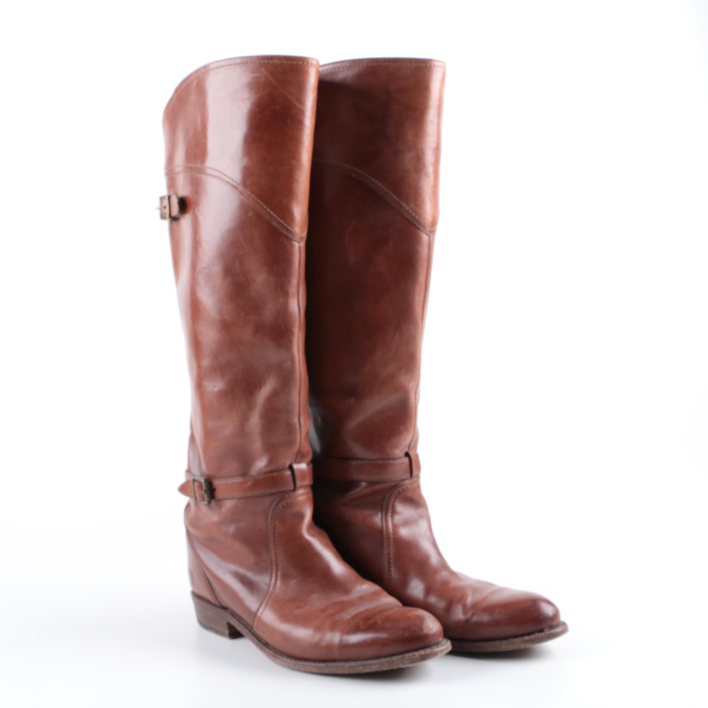 Women's Frye Dorado Whiskey Leather Riding Boots