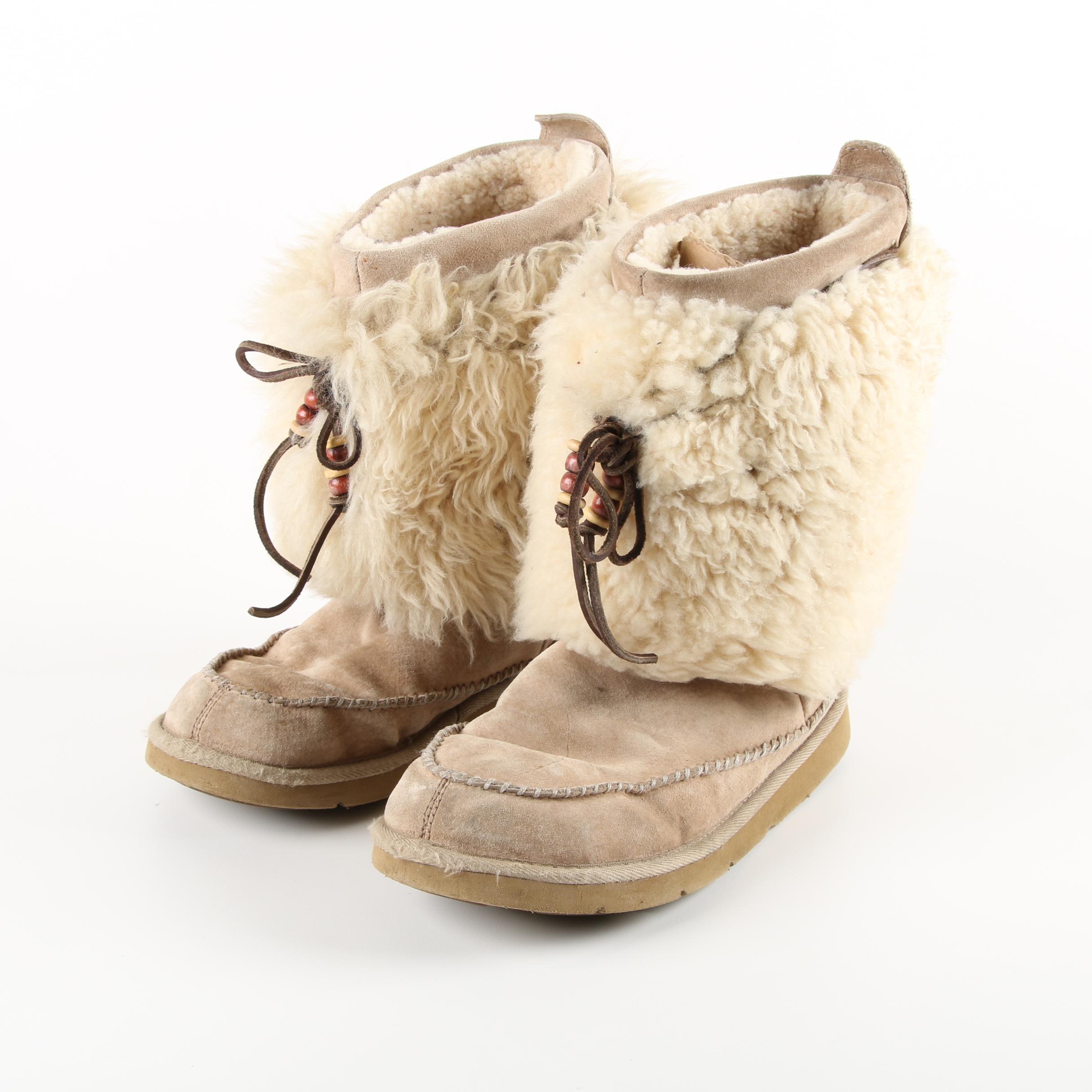 Women's UGG Australia Rainer Eskimo Leather and Sheepskin Boots