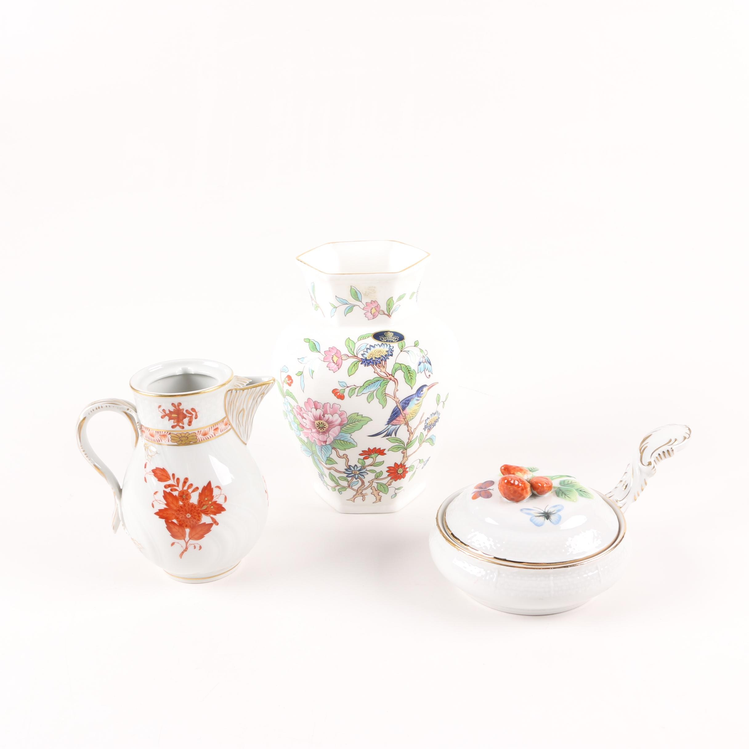 "Herend ""Chinese Bouquet"" and Aynsley  Porcelain Containers"