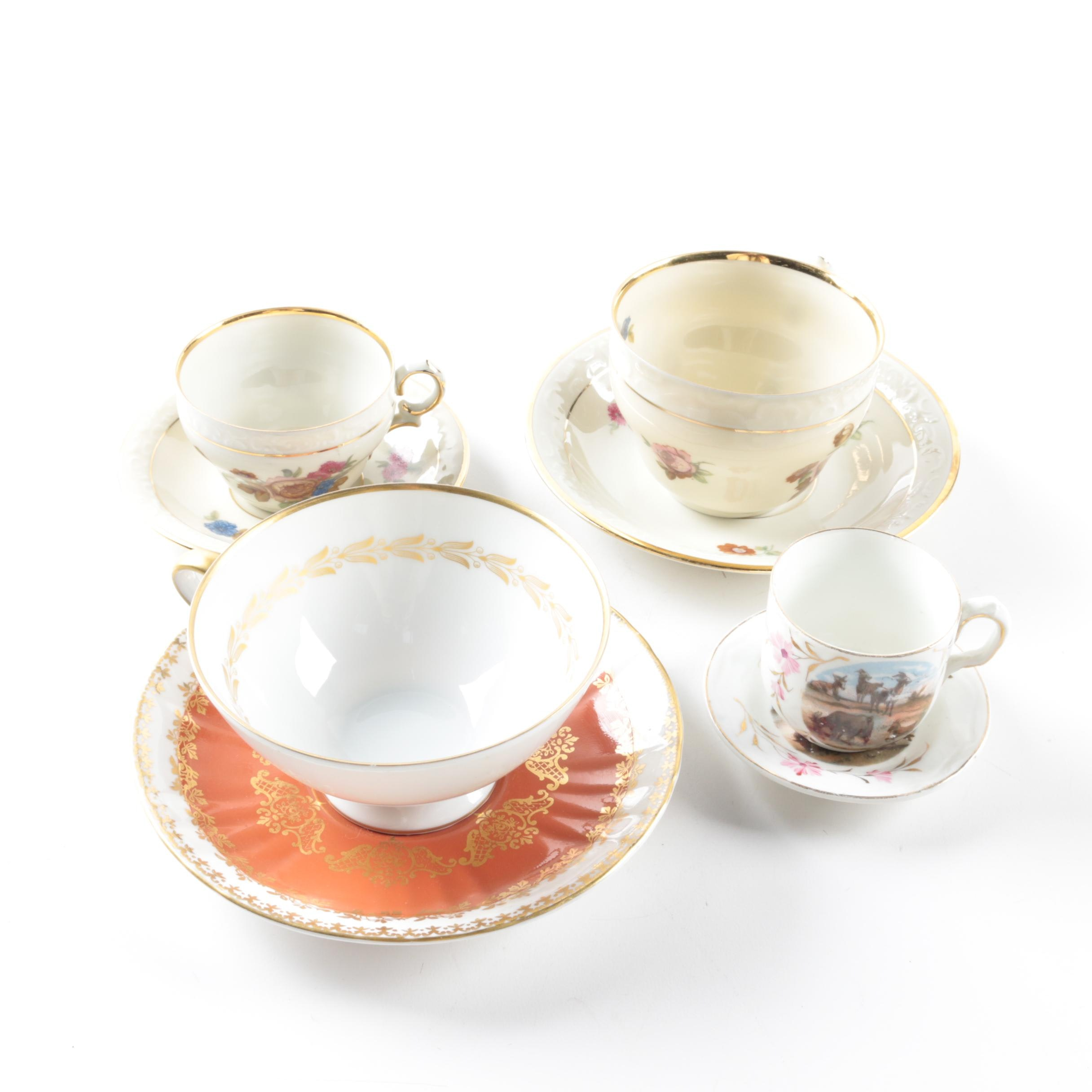 Cups and Saucers Featuring Royal Grafton