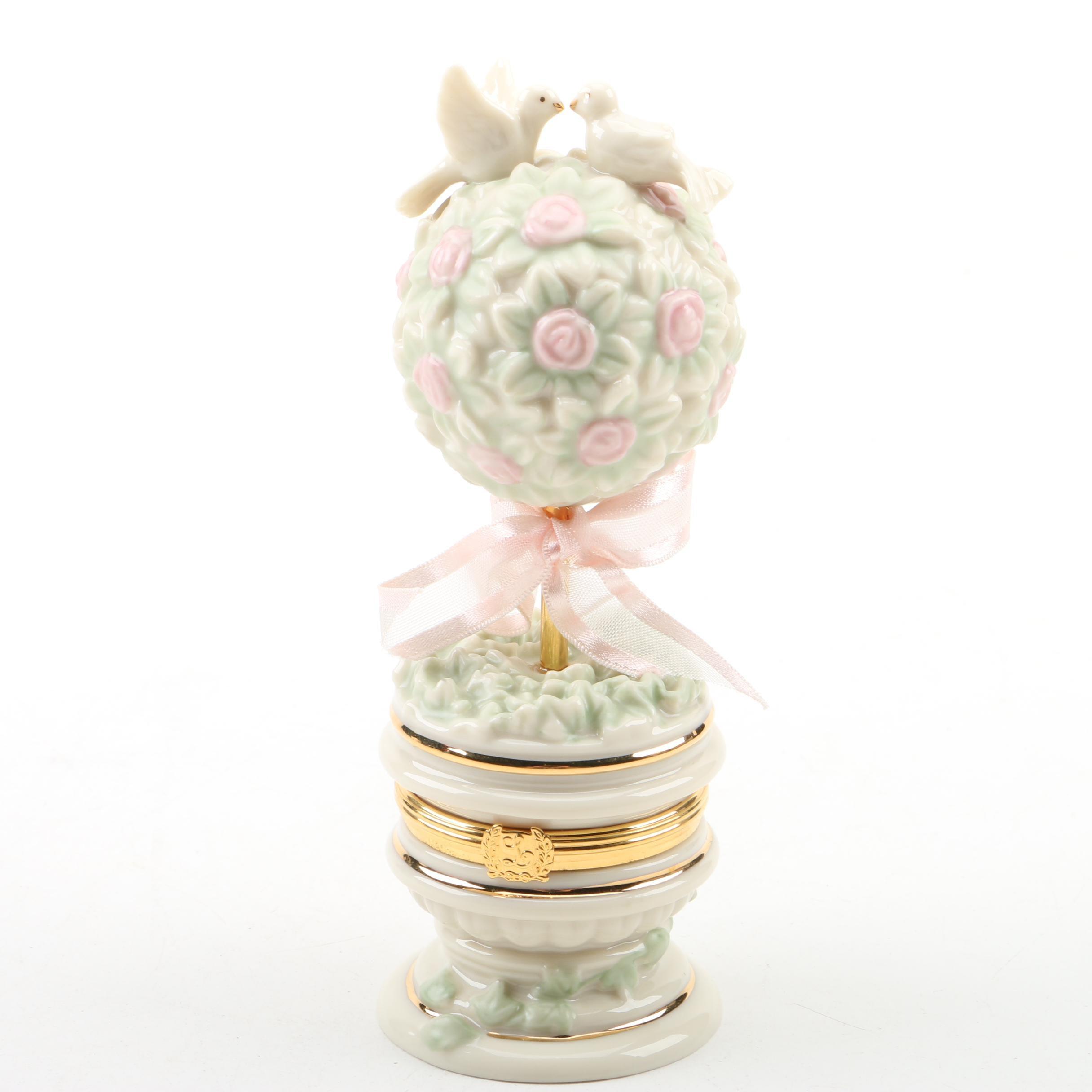 "Lenox ""Topiary Treasure"" Trinket Box"