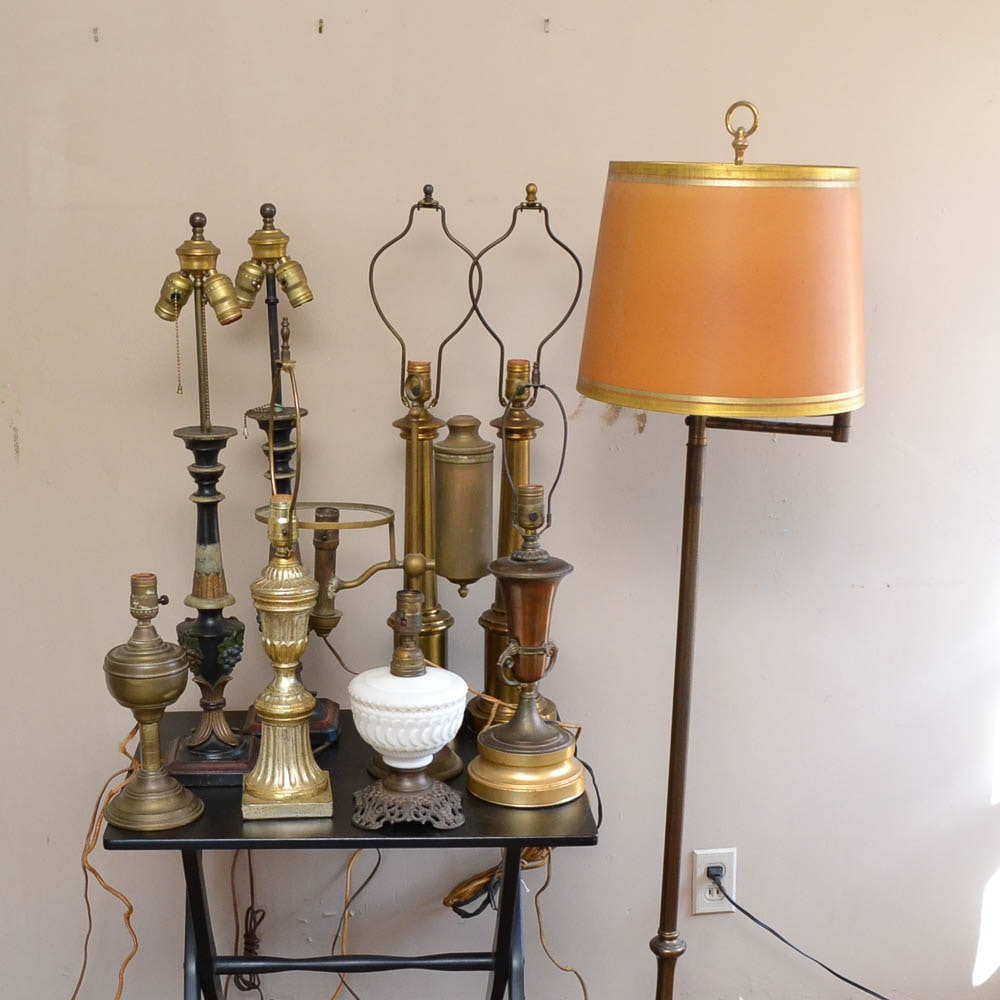 Assorted Antique and Vintage Lamps