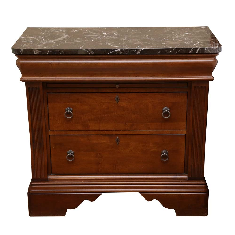 Marble Top Cherry Chest