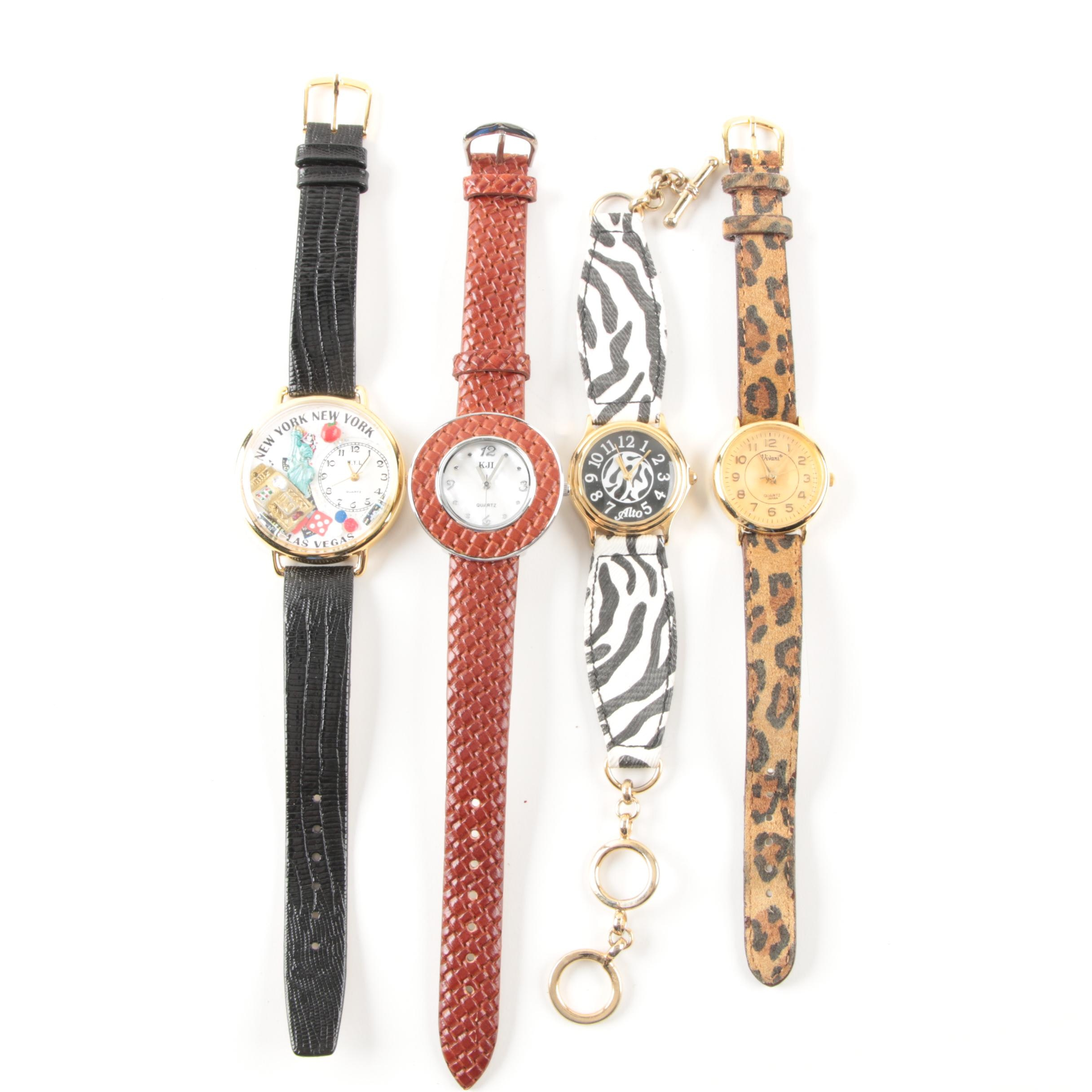 Collection of Wristwatches Including Kenneth Jay Lane