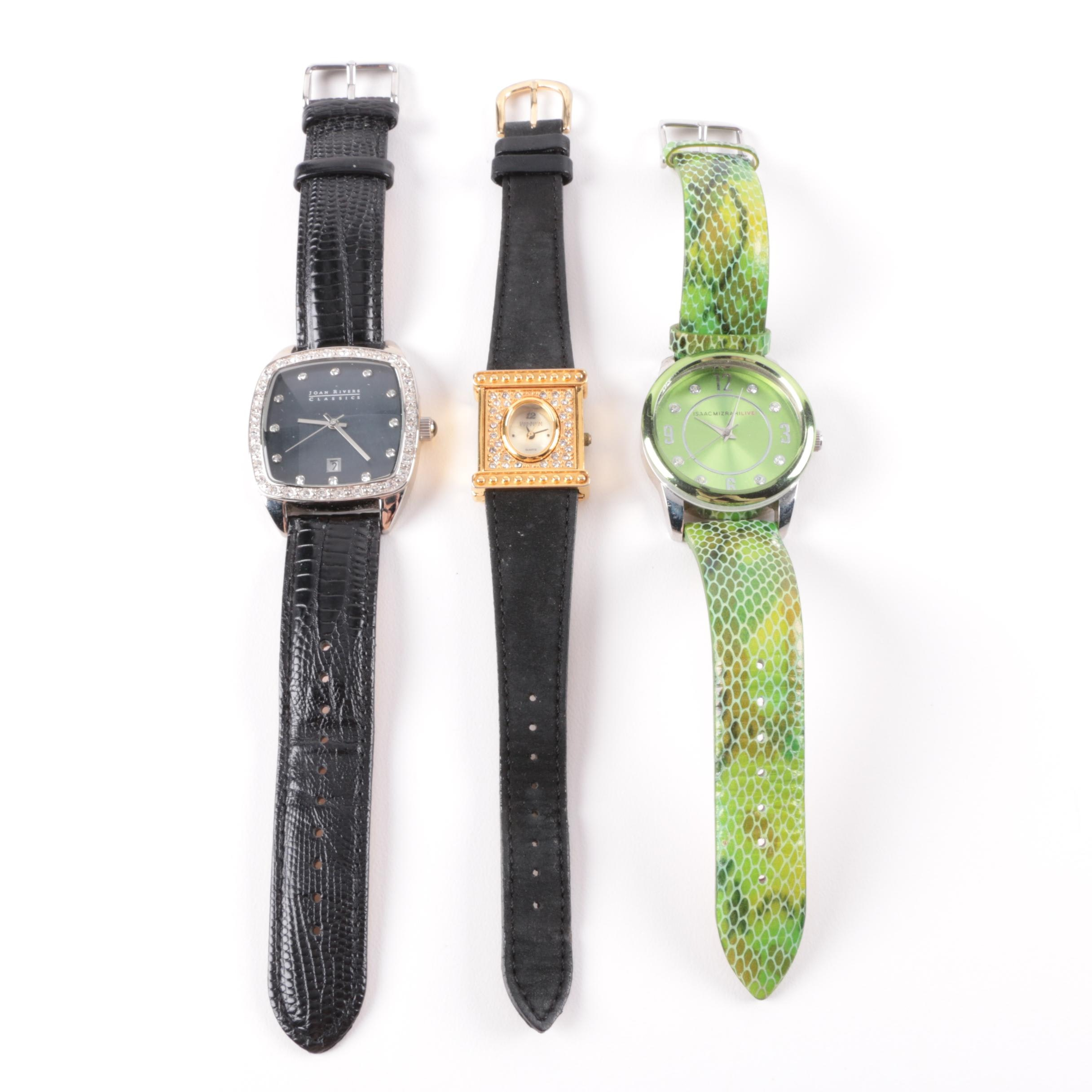 Selection of Costume Wristwatches Including Joan Rivers and Isaac Mizrahi
