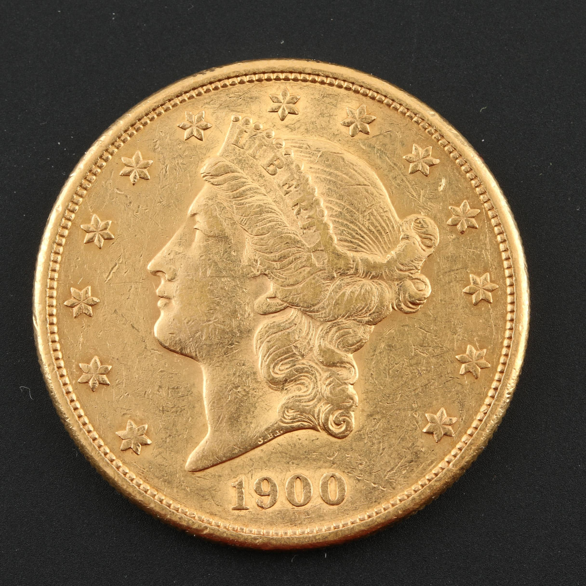 1900-S Liberty Head $20 Gold Coin