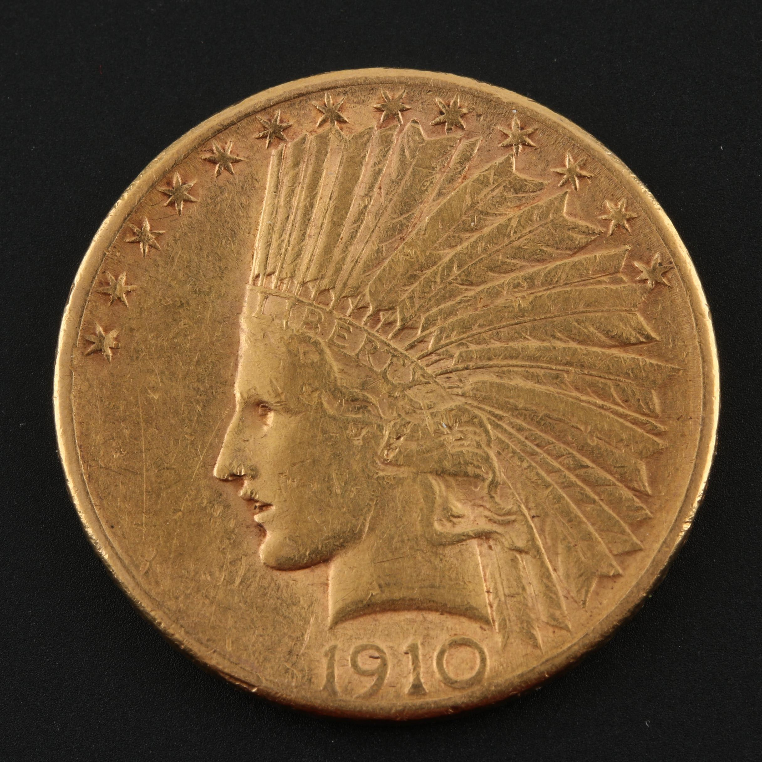1910-S Indian Head $10 Gold Coin