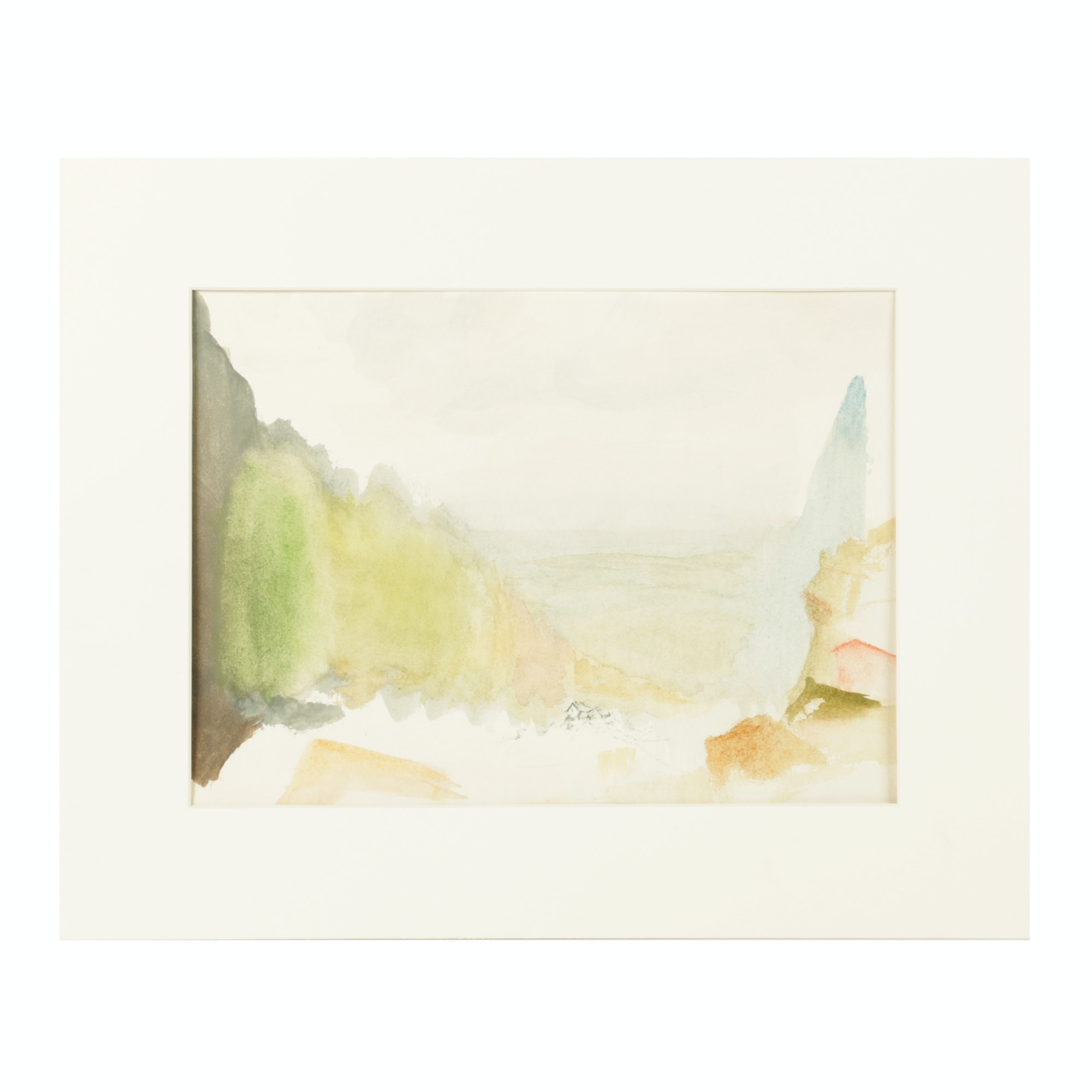 "Beth Hertz Watercolor Painting ""Fake Landscape"""