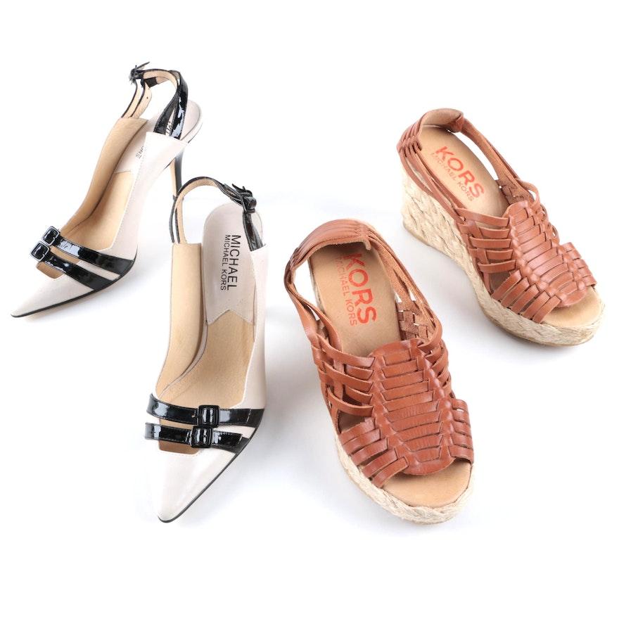 f90f68cbdea Michael Kors Brand Pumps and Wedge Sandals   EBTH