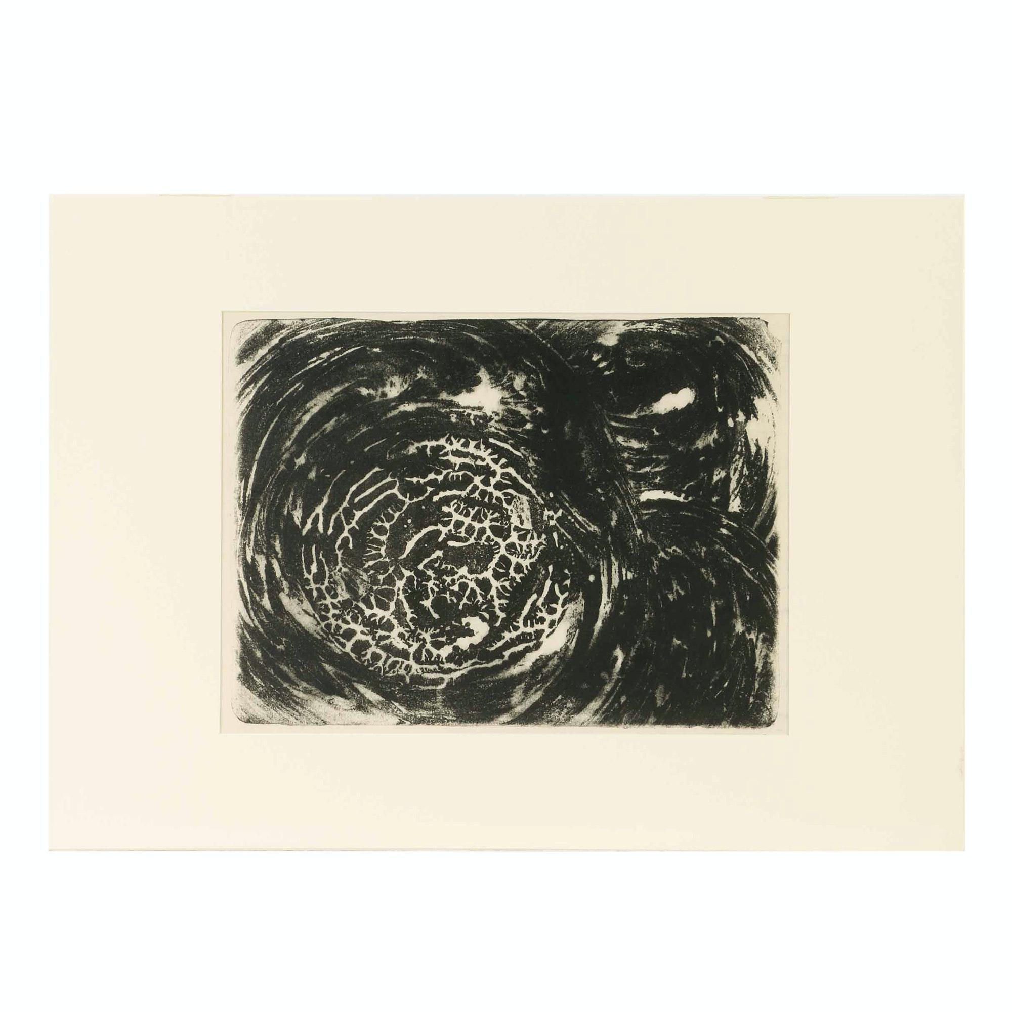 "Arthur Helwig Lithograph ""Cosmic Rythms"""