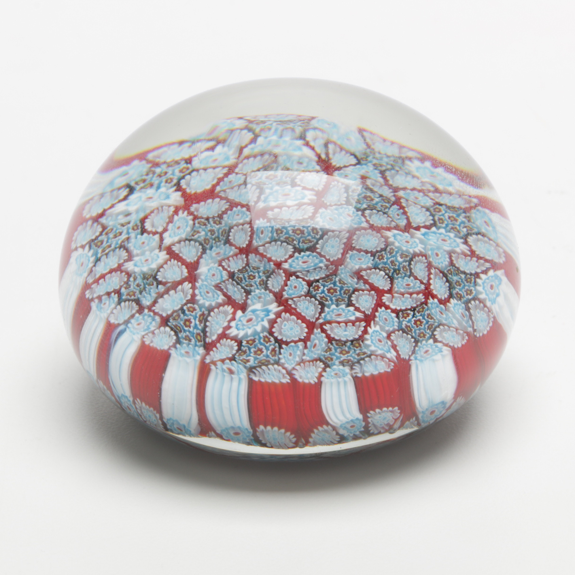 Millefori Art Glass Paperweight
