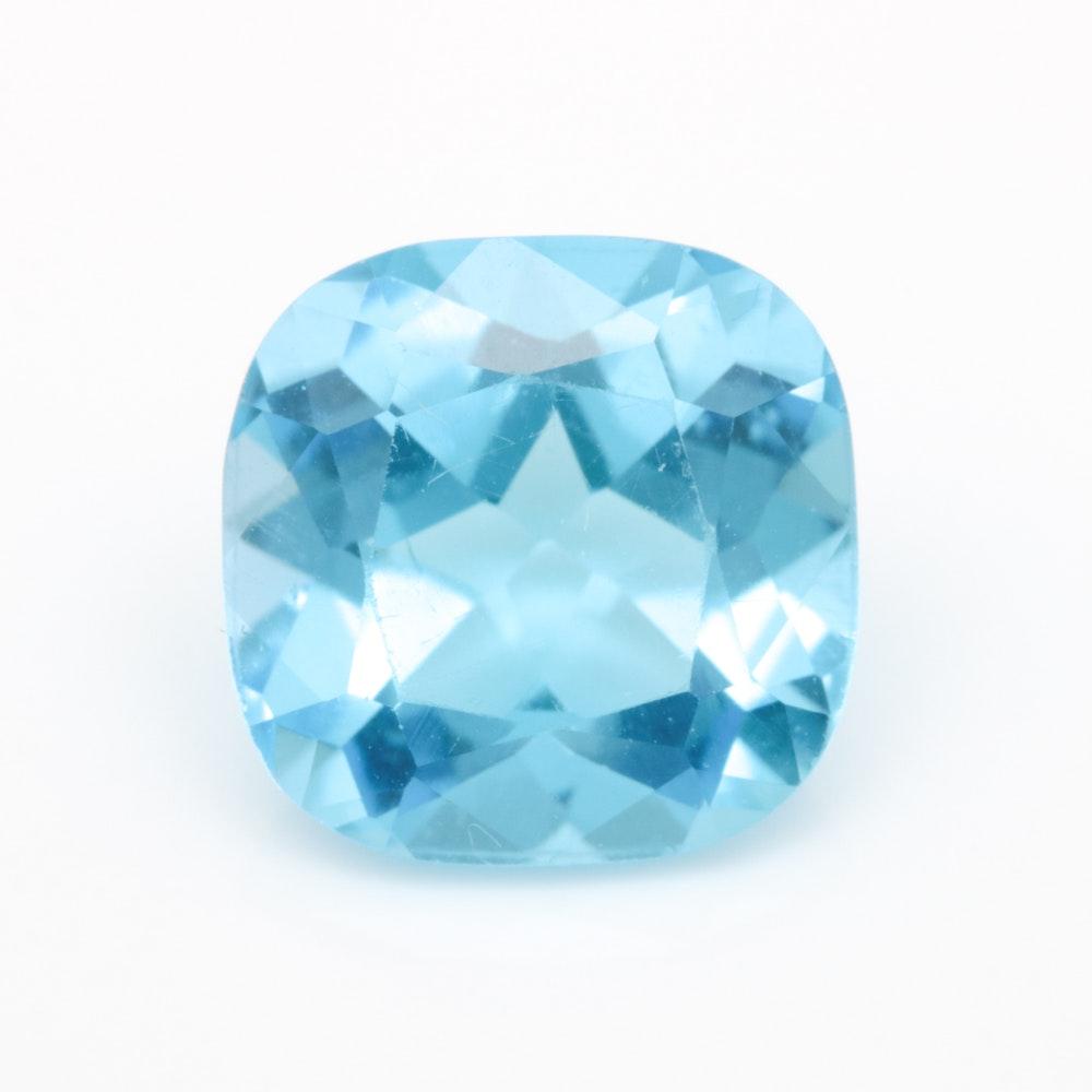 Loose 4.80 CT Blue Topaz Gemstone