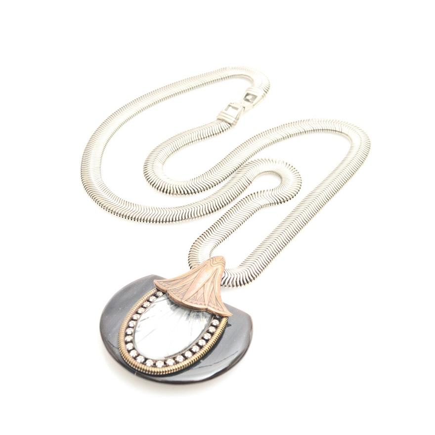 Vintage ermani bulatti art deco pendant and necklace ebth vintage ermani bulatti art deco pendant and necklace mozeypictures Choice Image