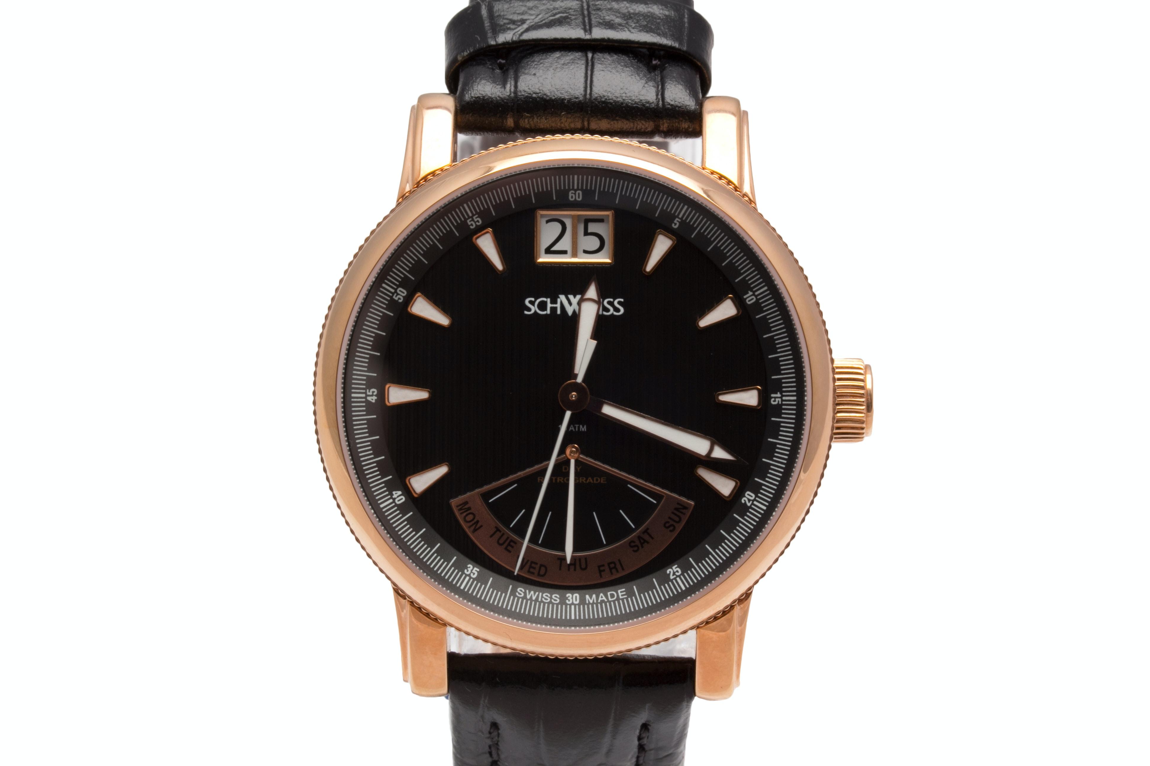 Schweiss Rose Gold Tone Wristwatch