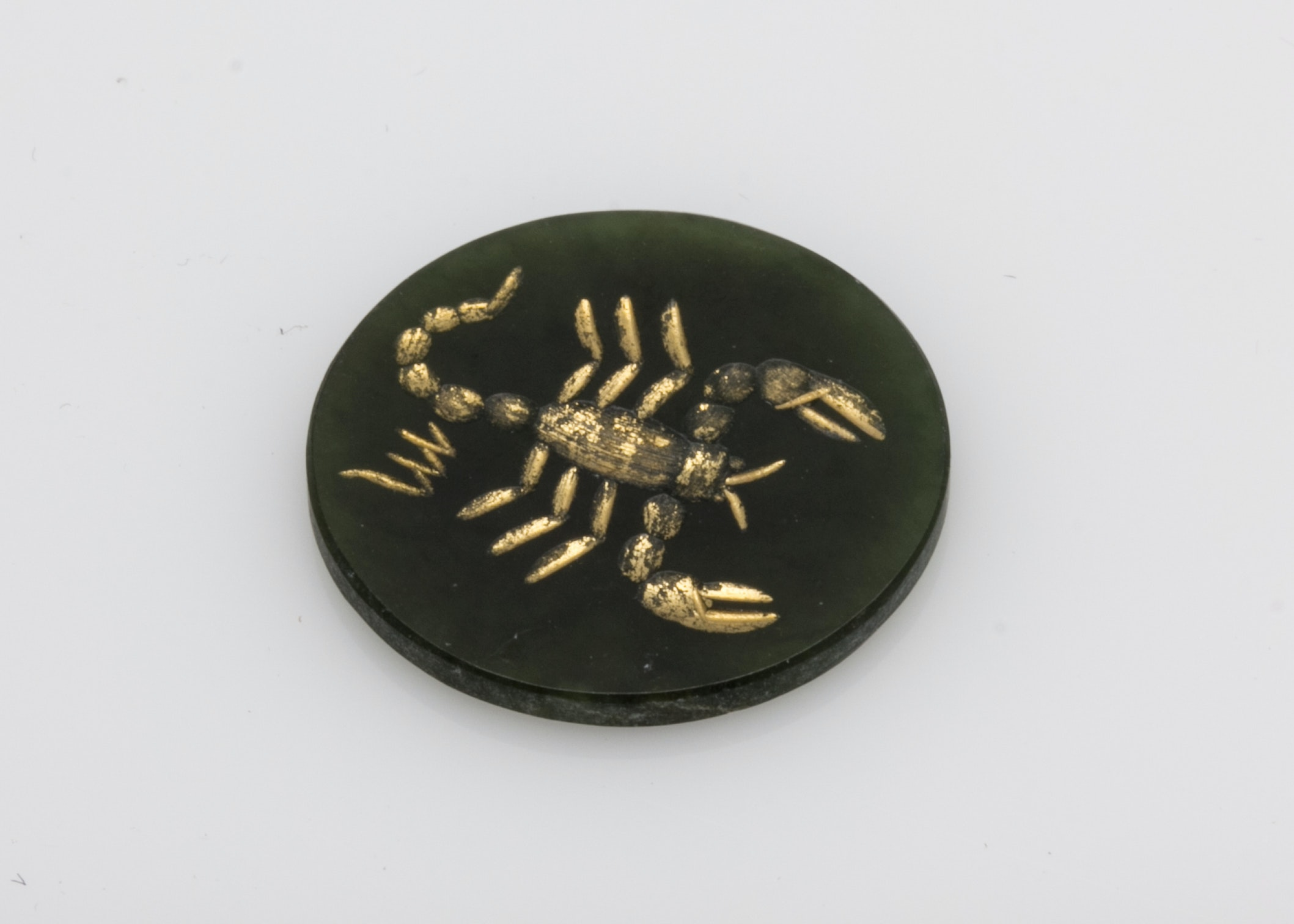Nephrite Jade Scorpion Tablet