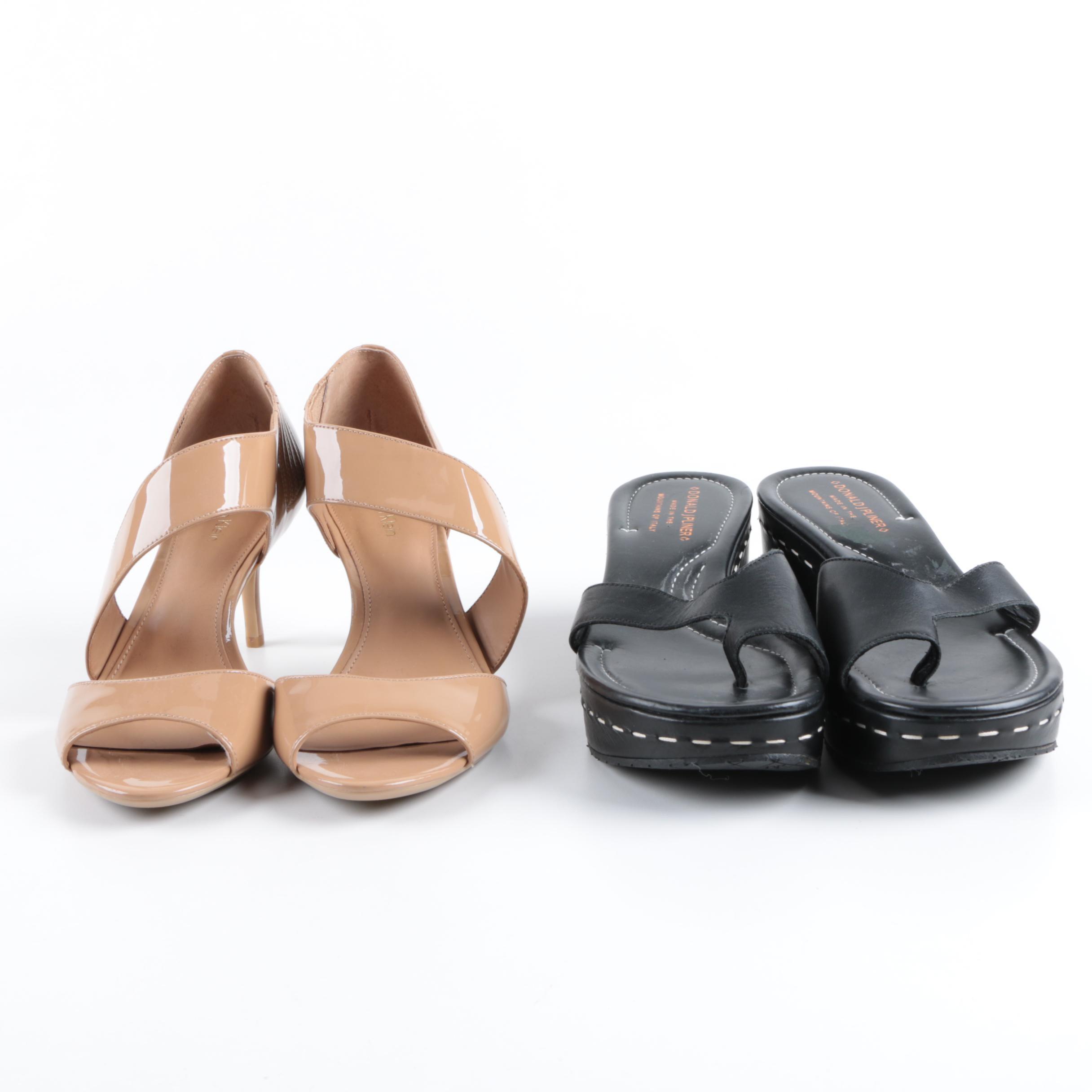 Calvin Klein Heels and Donald J Pliner Wedge Sandals