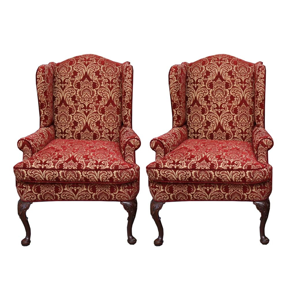 Queen Anne Wingback Chairs By Charles Stewart ...