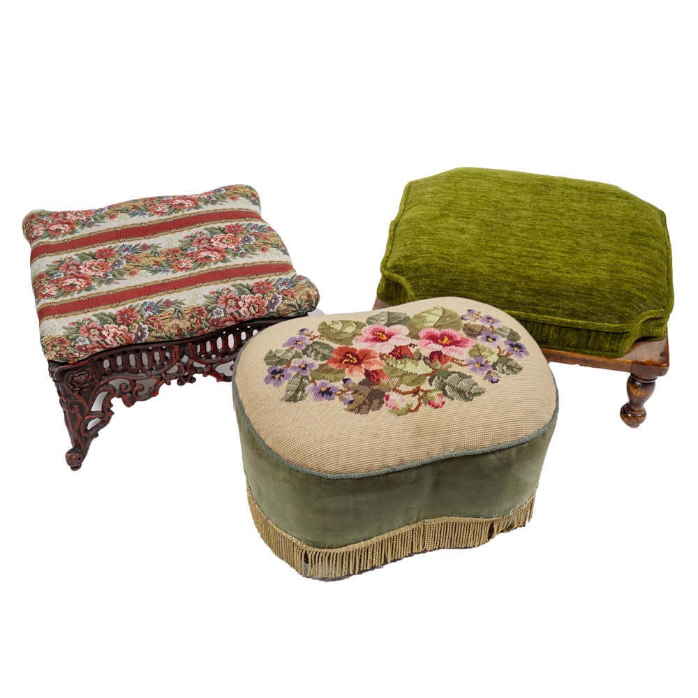 Collection of Vintage Footstools