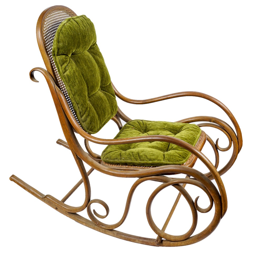 Vintage Thonet Style Bentwood Rocking Chair ...