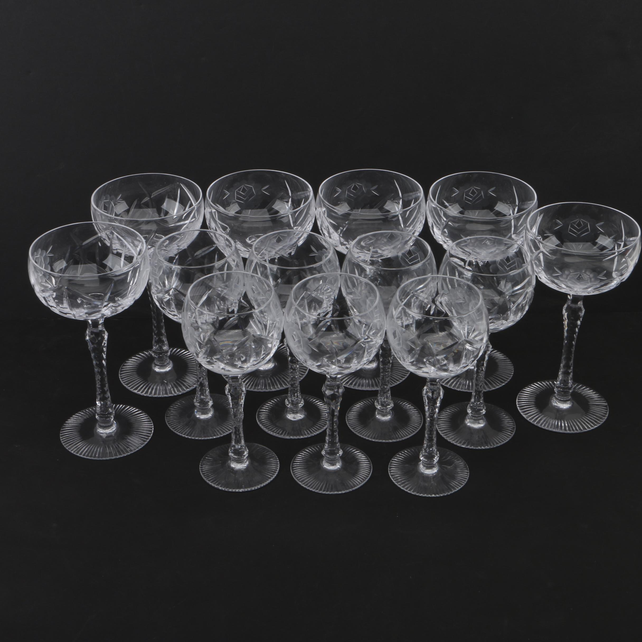 "Bayel Crystal ""Paris Rose"" Stemware"