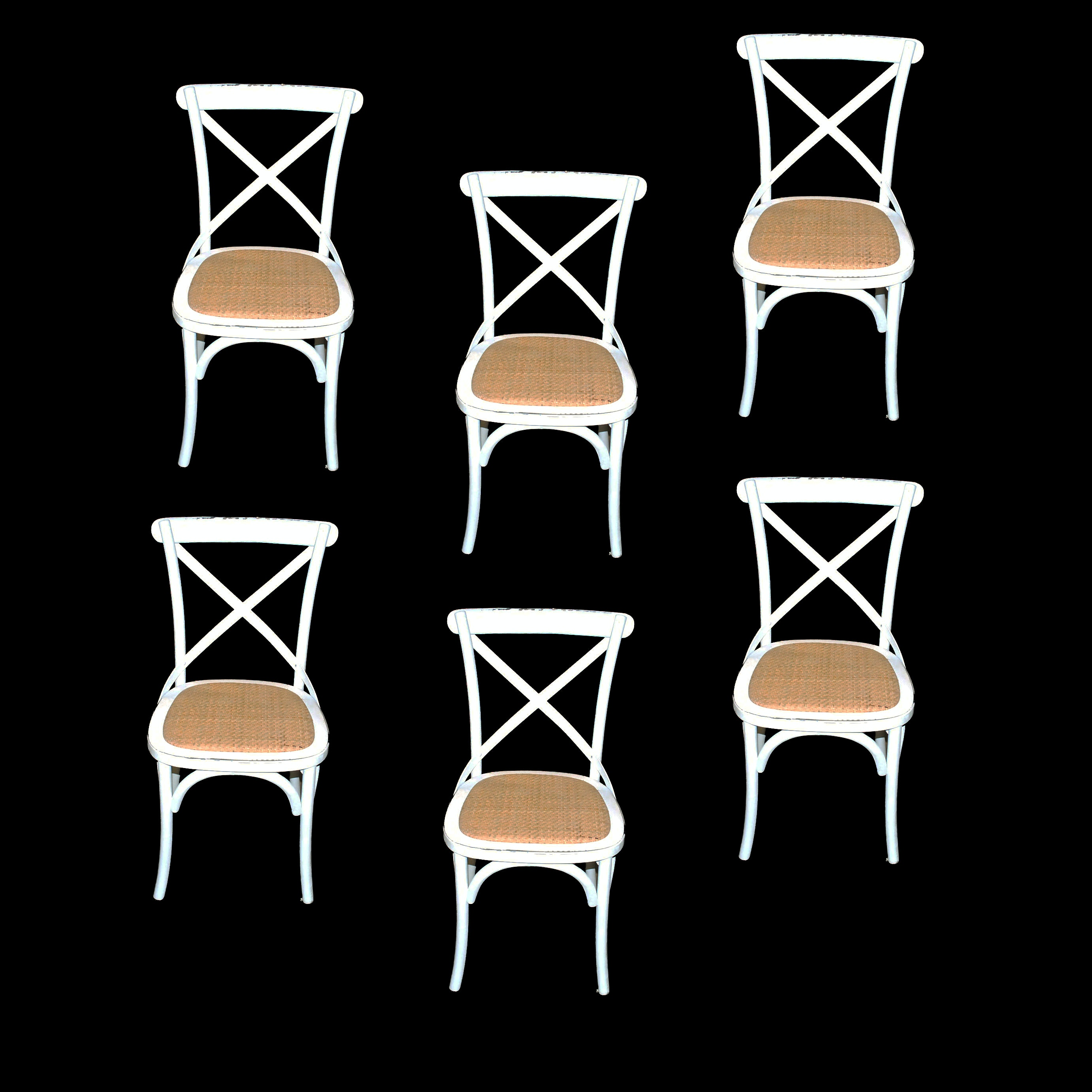 Set of Cross Back Dining Chairs