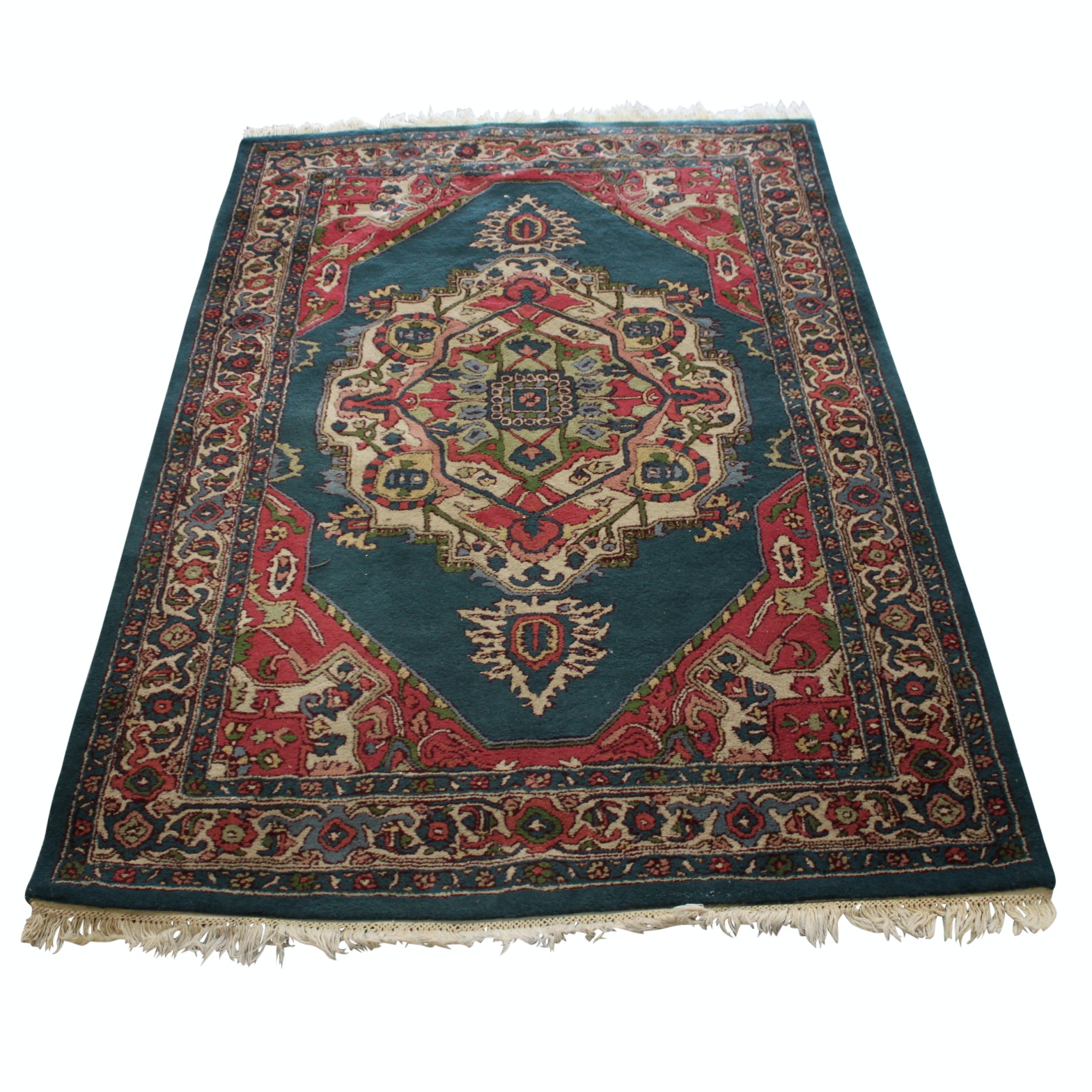 """Tufted Indian """"Kirman"""" Wool Area Rug by Couristan"""