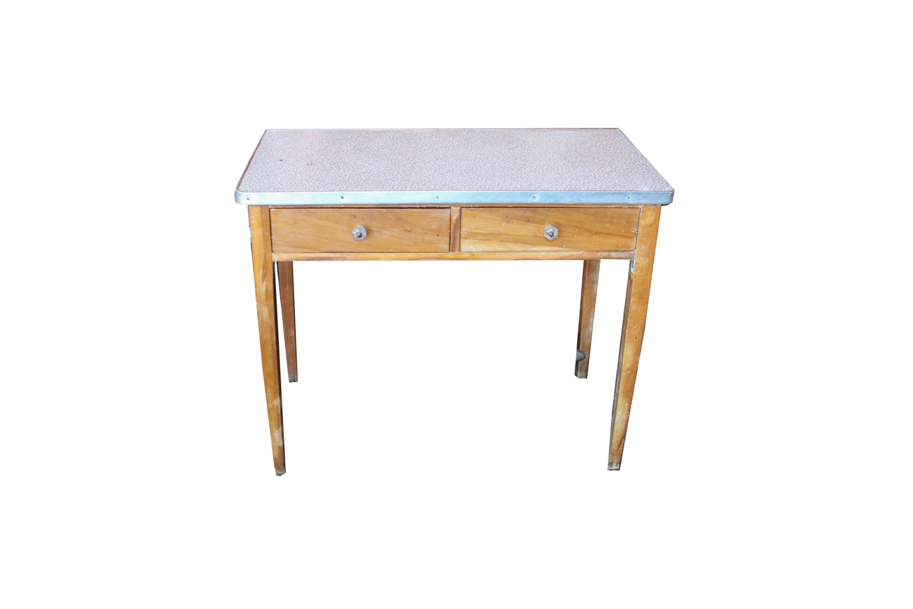 Wooden Accent Table with Laminate Top