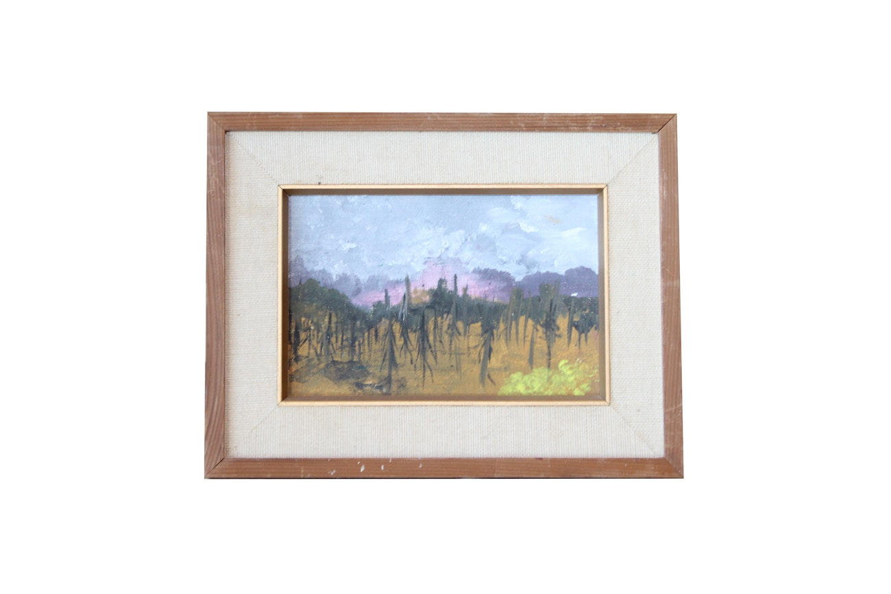 Oil Painting of Abstract Landscape