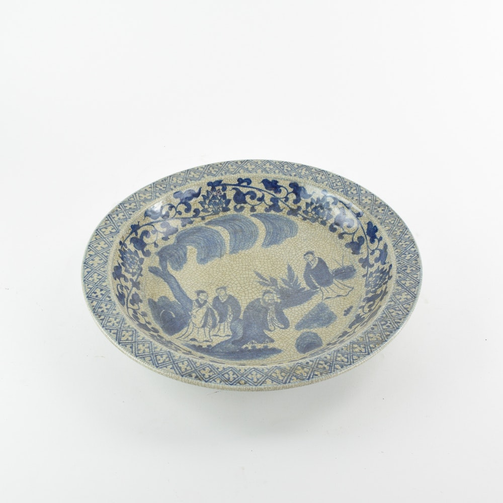 Hand-painted Chinese Decorative Ceramic Dish