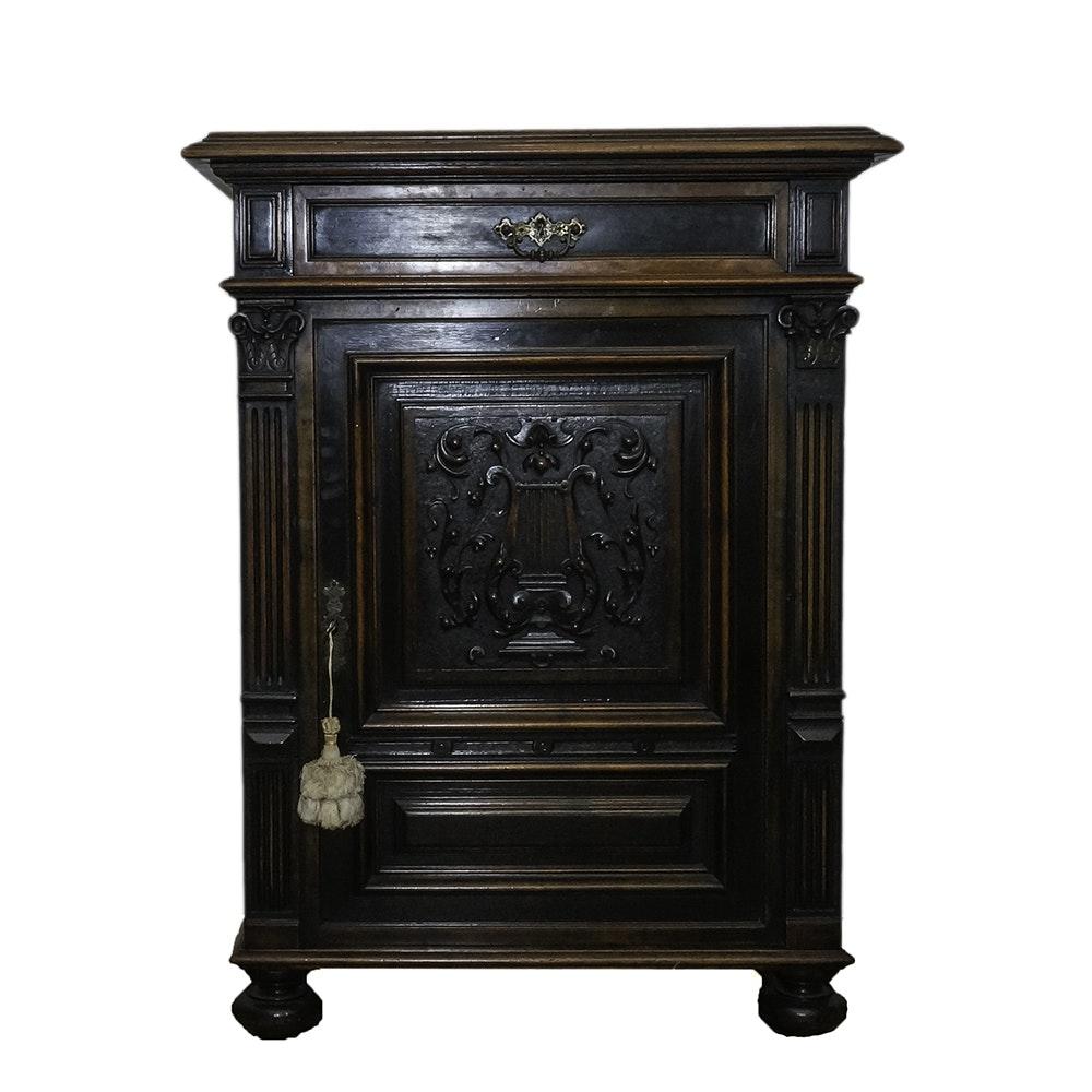 Antique German Music Cabinet by J. Eroschkus