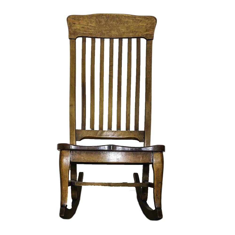 Antique Birch Rocking Chair