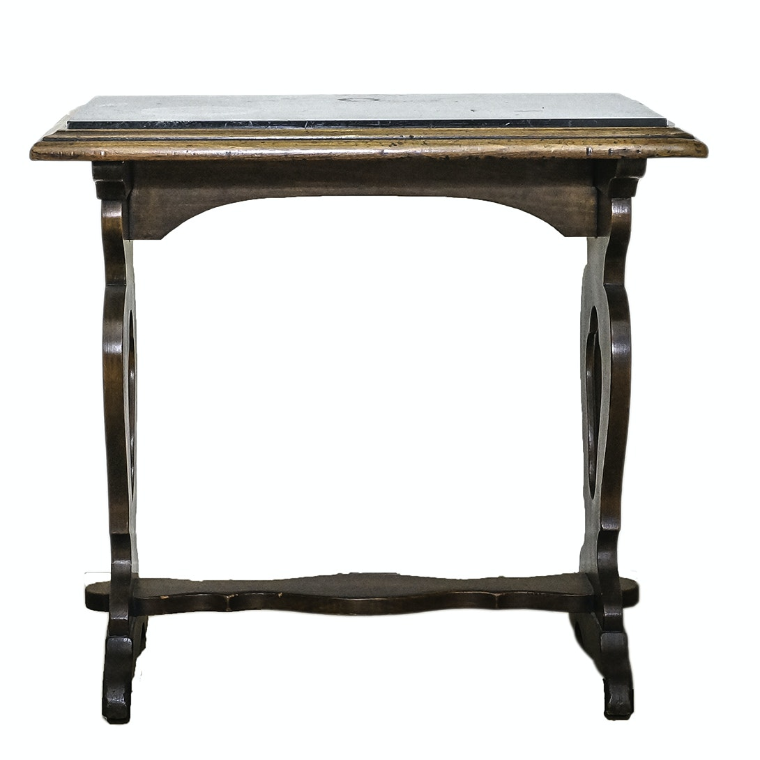 Mediterranean Style Trestle Side Table