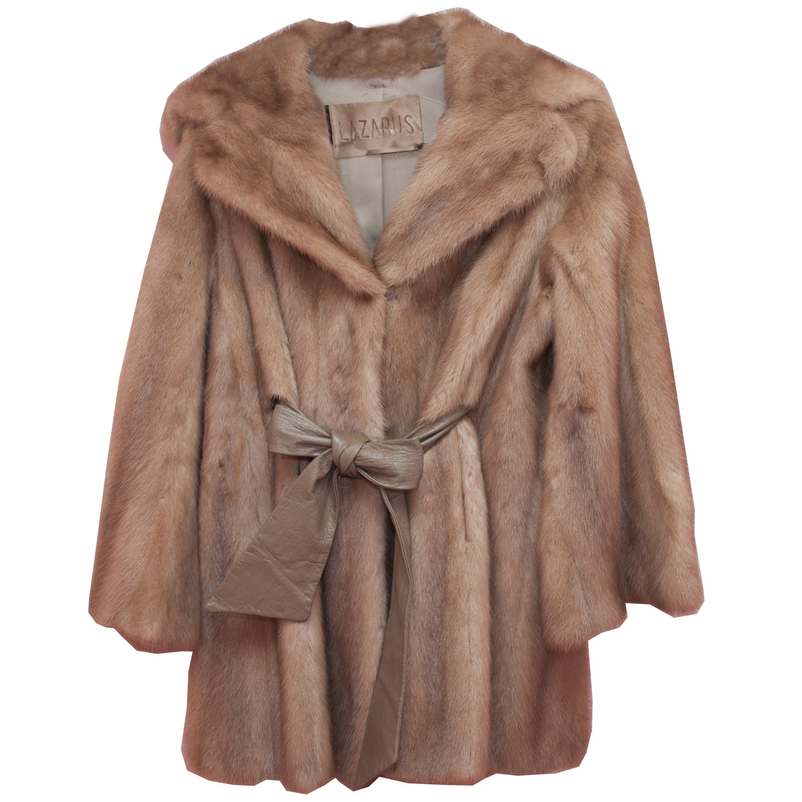 Lazarus Mink Fur and Leather Vintage Coat