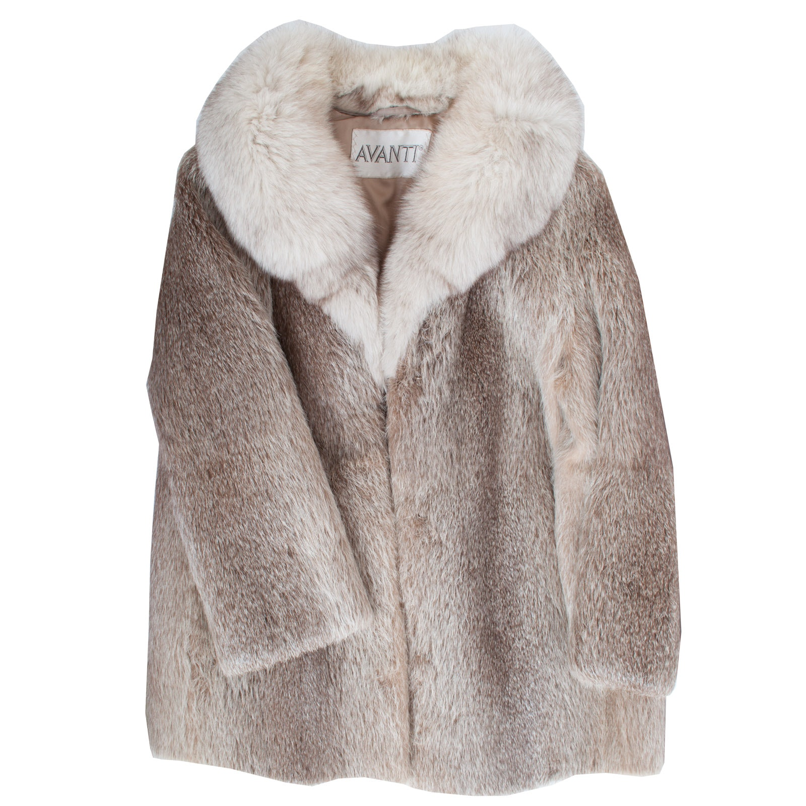 Avanti Fox Fur Collar and Deer Fur Project Coat
