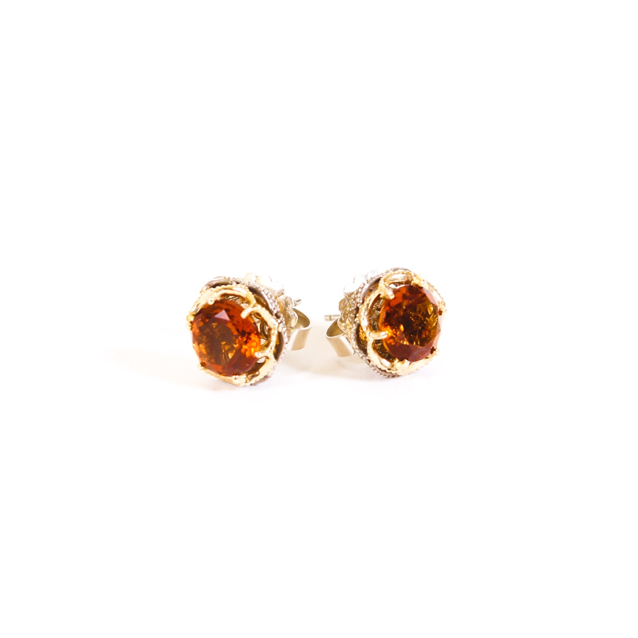 Tacori Sterling Silver Citrine Earrings