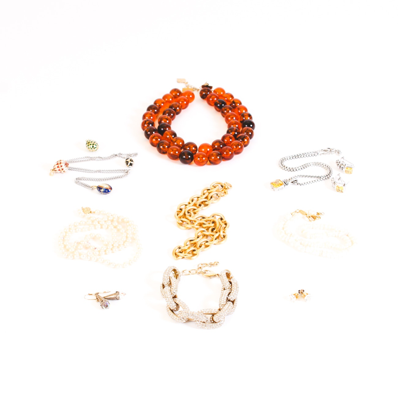 Assorted Fashion Jewelry Including Tory Burch and Fornash