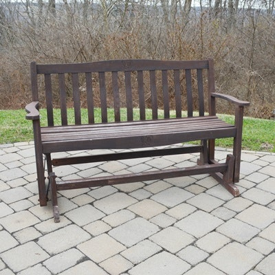 Wood Patio Glider