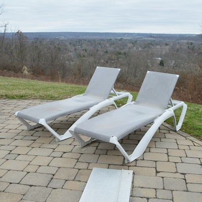Frontgate Striped Chaise Lounge Chairs ...