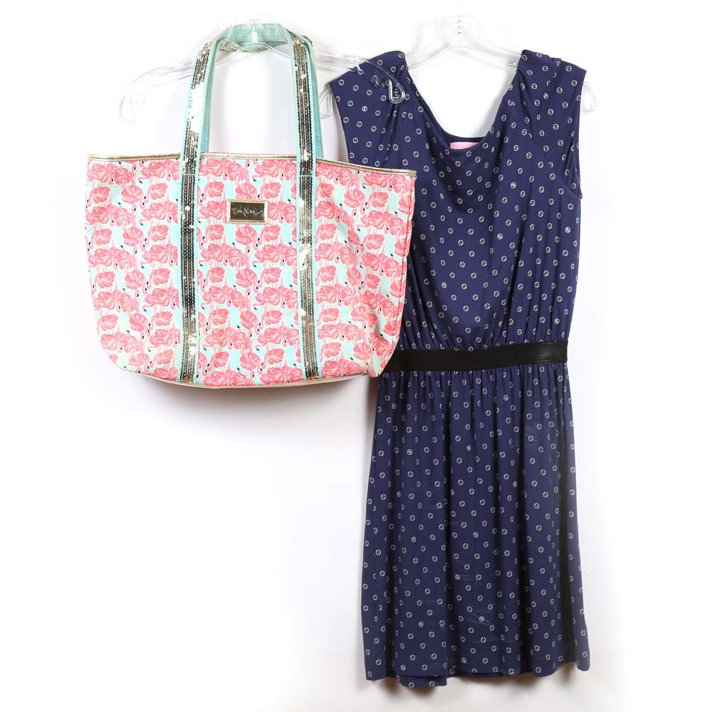 Lilly Pulitzer Dress and Tote