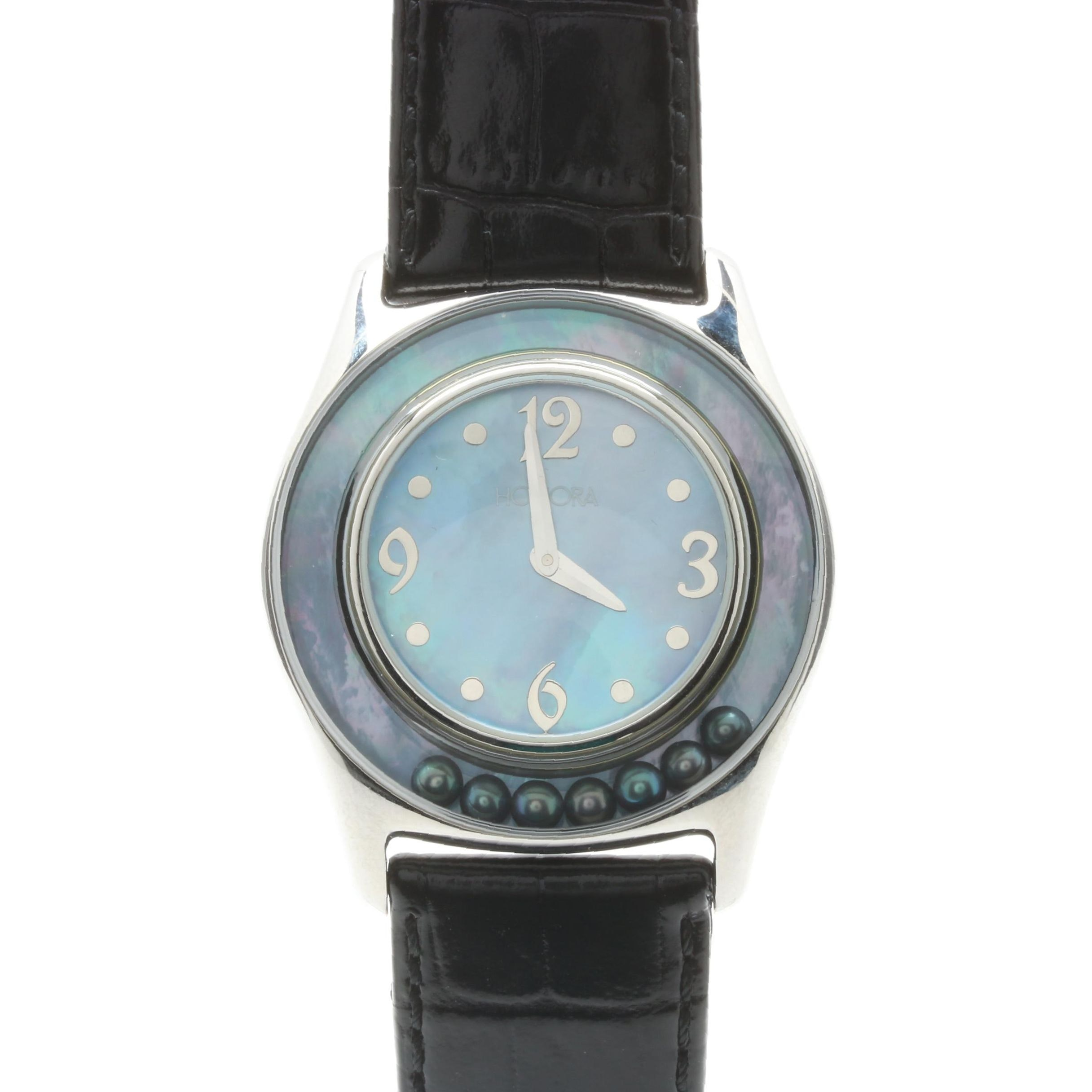 Honora Wristwatch with Black Cultured Pearls