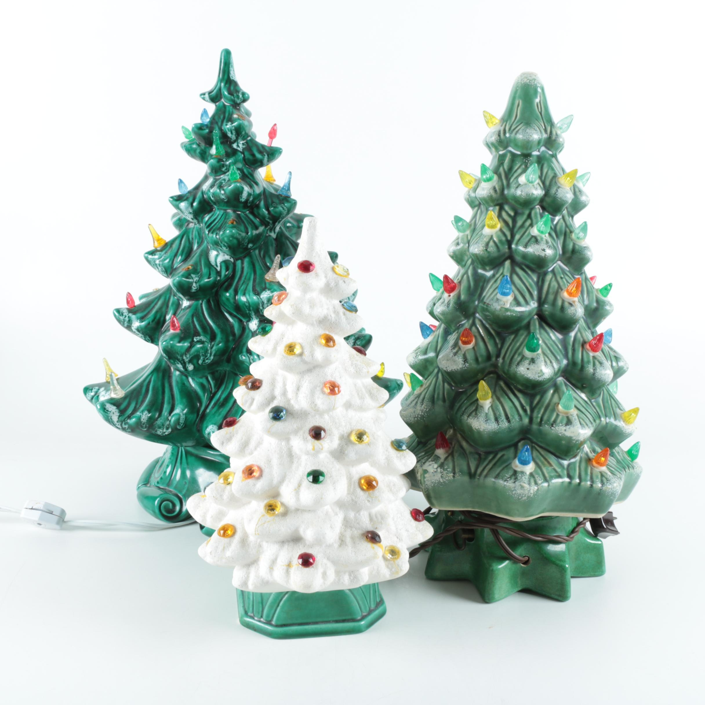 Ceramic Christmas Tree Accent Lamps