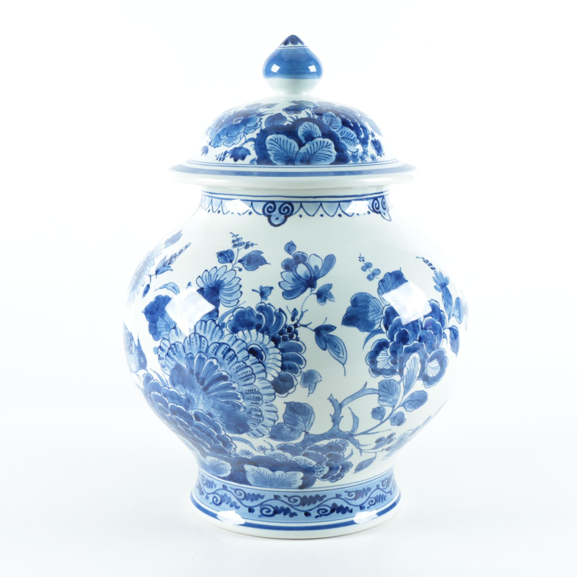 Vintage Royal Delft Earthenware Ginger Jar