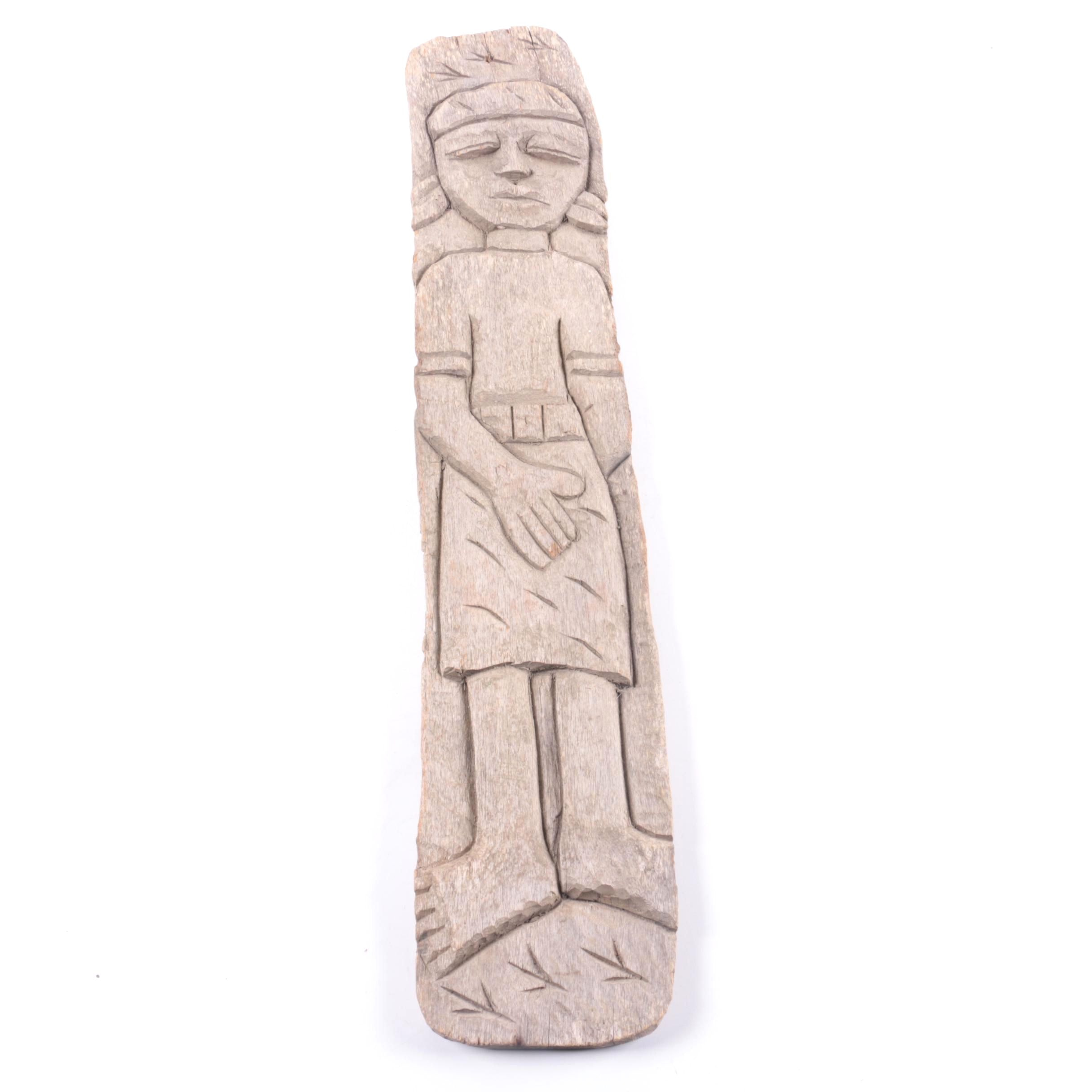 Wooden Carving of a Girl