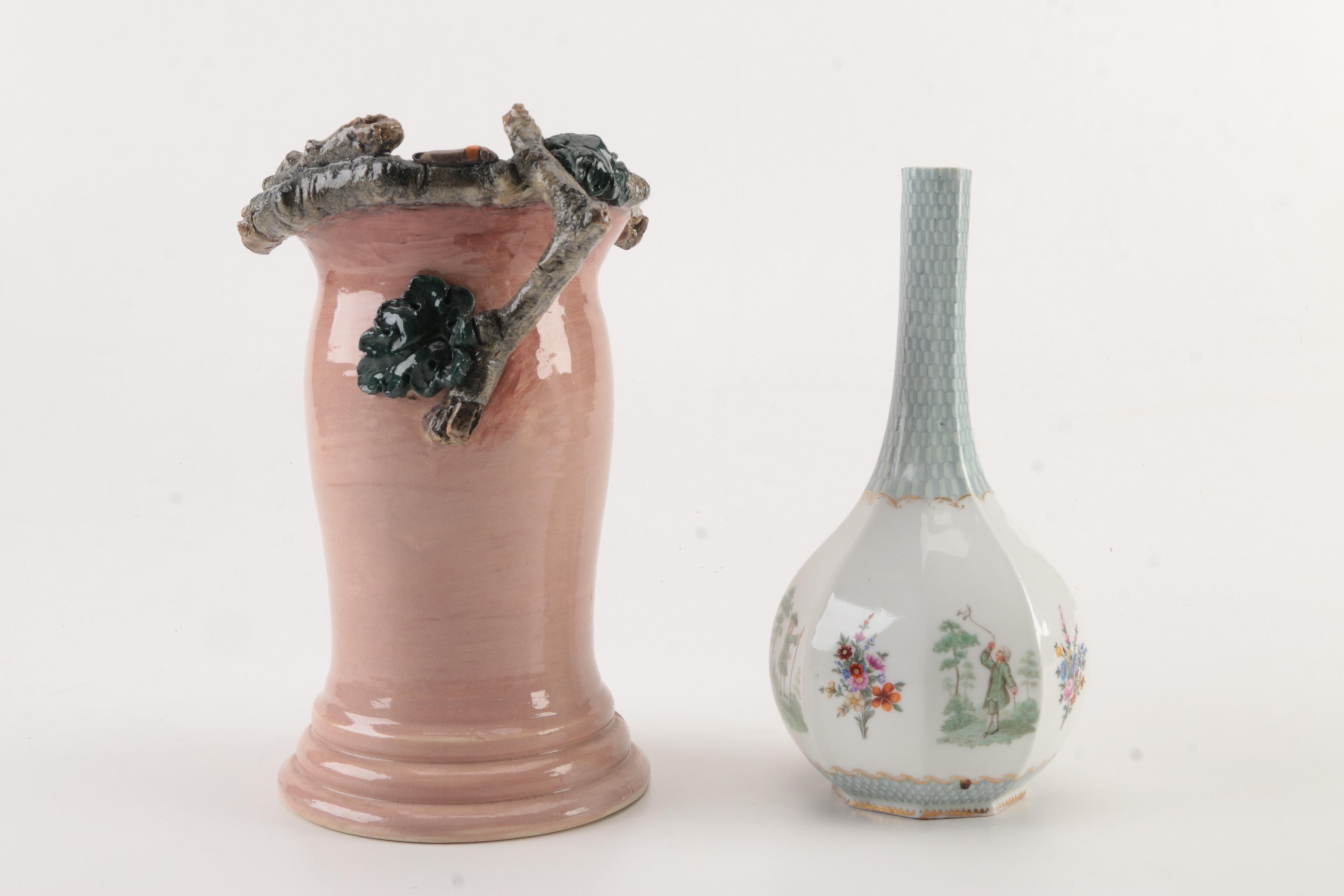 Signed Decorative Ceramic Vases