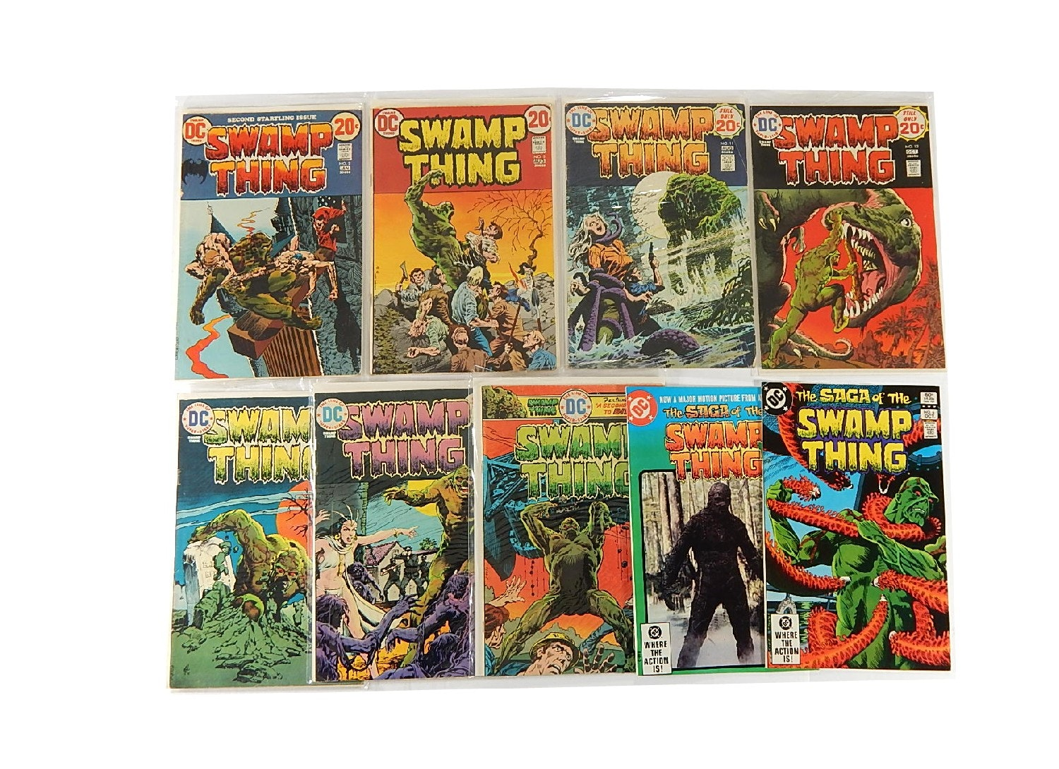 "Bronze Age DC Comics ""Swamp Thing"" - 9 Issues"